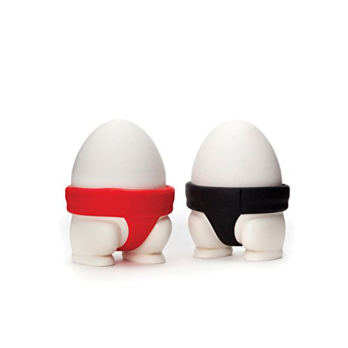 PELEG DESIGN Sumo Eggs, Egg Cup Set, Egg Cups for Soft Boiled Eggs or Hard Boiled Eggs, Sumo Design Egg Cup Holders, Utensil Kitchen Décor, Set of 2