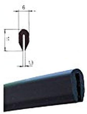 /Nero/ 2068 /3/m Nero /spalt misura 1,3/mm/ eutras protezione angoli kso4005/cavo Protezione barra/