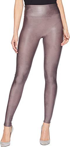 SPANX Women's Faux Leather Leggings Antique Rose X-Large 30 - Faux Leather Panel Leggings