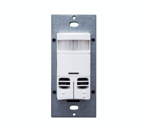 - Leviton OSSMD-MDW Dual-Relay, Multi-Technology Wall Switch Sensor, 2400 sq. ft. Major & 400 sq. ft. Minor Motion Coverage, White