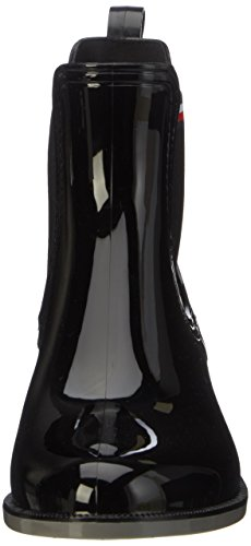 Tommy Hilfiger O1285dette 11r, Botas de Lluvia para Mujer Negro (Black)