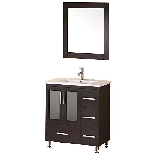 Design Element Stanton Single Drop-In Sink Vanity Set with Espresso Finish, -