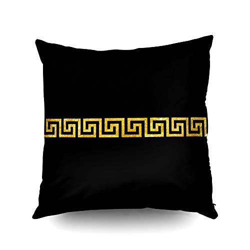 Capsceoll Halloween Greek Key Pattern Decorative Throw Pillow Case 20X20Inch,Home Decoration Pillowcase Zippered Pillow Covers Cushion Cover with Words for Book Lover Worm Sofa Couch (Versace X Gucci)
