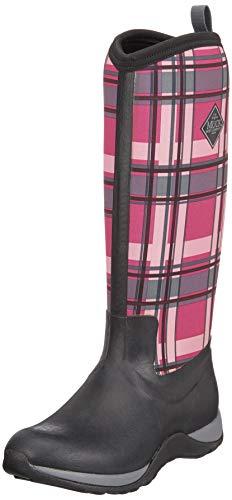 Muck Arctic Adventure Tall Rubber Women's Winter Boots, 7 US/7 M US, Black/Pink Plaid ()