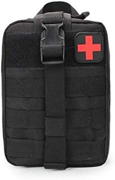 GXYCP Erste-Hilfe-Kit EMT Outdoor-Bergsteigen Medizinische Tasche Molle Travel Klettern Lebensrettende Tasche,Black