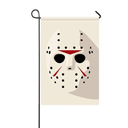 DongGan Garden Flag Jason Friday 13th Hockey Mask 12x18 Inches(Without Flagpole) -