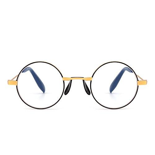 Anti Blue Light Retro Round Metal Computer Reading Glasses Video Gaming Readers Reduce Eye Fatigue +1.25