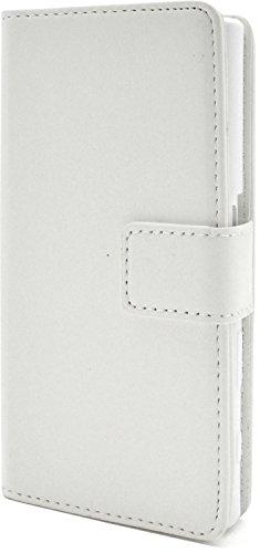 長方形サイドボードの面ではPLATA Xperia Compact SO-02J ケース 手帳型 カラー レザー スタンド ケース ポーチ カバー 【 ホワイト 白 しろ シロ white 】 DSO02J-77WH