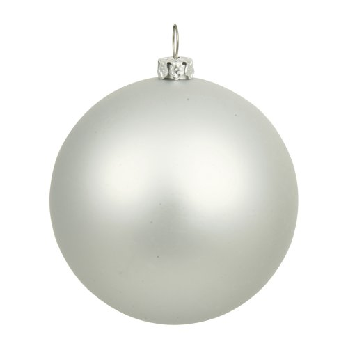 sh Seamless Shatterproof Christmas Ball Ornament, UV Resistant with Drilled Cap, 8