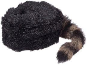 Child's Coonskin Hat With Real Tail