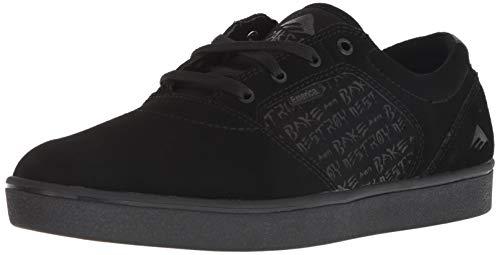 Emerica Men's FIGGY DOSE X Baker Skate Shoe, Black, 10 Medium US