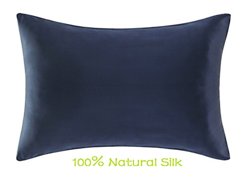 Silk Pillowcase,Pure Mulberry Silk Pillowcase with Hidden Zipper, Natural Pure Silk Pillow Shams Cover Especially Suitable for Summer, King Size (36