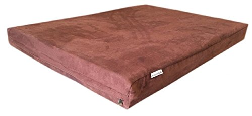 55''x37''x4'' Luxury Comfort Replacement Dog Bed Zippered Duvet Gusset Resistant Anti Slip Cover in Chocolate Brown MicroSuede Fabric 100% Washable - Cover Case Only by eConsumersUSA