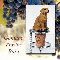 - Golden Retriever Decorative Cork - Hand Painted Dog (Retriever Bottle)