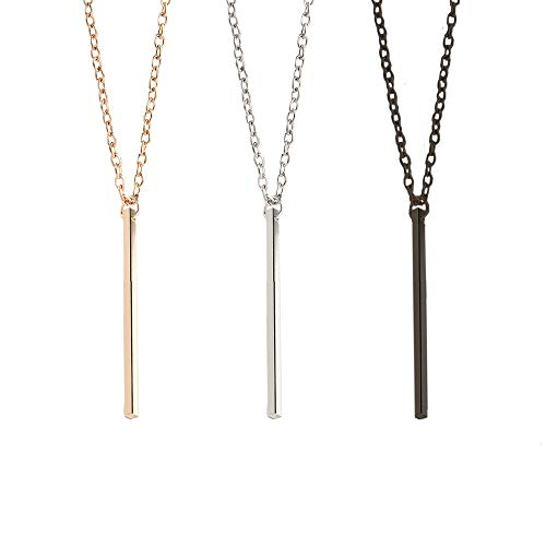 LQANG Bar Dangle Earrings Drop Geometric Necklace Choker Collarbone Chain Clavicle Necklace Ear Studs Simple Dangling Earrings Women Girls Wedding Bridal Holiday Tribal Delicate Charms Jewelry 3 in 1