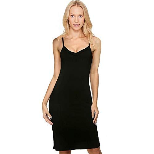 Camisole V-neck Nordstrom - Women Full Slip Modal Sleepwear Strap Nightgown V Neck Chemise Lingerie XL Black