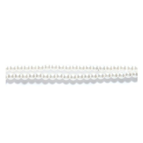 Preciosa Ornela Imitation Round Glass Pearl, 2-mm, White, 250-Pack ()