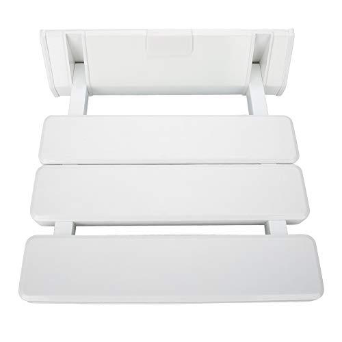 Wall Shower Seat, Folding Wall Mounted Bench Bathroom Stool Bathroom Bath Seat Foldaway Seating Bathtub Seat for Adults, Elderly,Bathtub, Bath