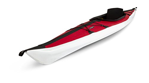 Folbot Touring Kiawah Foldable and Portable Kayak, Red/Gray, 13-Feet 3-Inch x 24-Inch