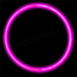 "Glow Sticks Bulk Wholesale Necklaces, 100 22"" Pink Glow Stick Necklaces +100 FREE Glow Bracelets! Bright Color, Glow 8-12 Hrs, Connector Pre-attached(Time Saver), Sturdy Packaging, GlowWithUs Brand"