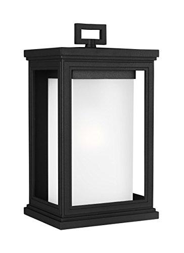 Feiss OL12901TXB Roscoe StoneStrong Marine Grade Outdoor Patio Wall Lantern, 1-Light, 75 Watt, Black