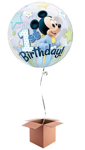Globo de Burbujas de Primer cumpleaños con diseño de Mickey ...