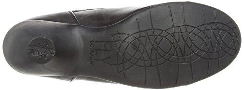 Fly London Pewy Sebta - zapatos de vestir de cuero mujer negro - negro