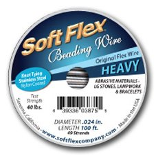 soft flex beading wire 100 ft - 2