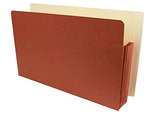 AMZfiling End Tab Expanding File Pocket Folders- Legal Size, 6 Inch Expansion, Red Wallet (25 per Carton)