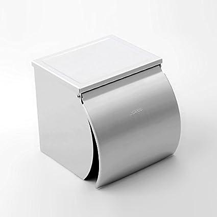 Zuoao Acciaio Porta Carta igienica 304 Acciaio Chiusa del Bagno Titolare di Carta igienica Supporto del Tessuto,Silver