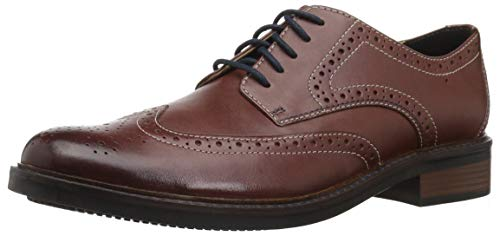 Bostonian Men's Maxton Wing Oxford, British tan Leather, 120 M US