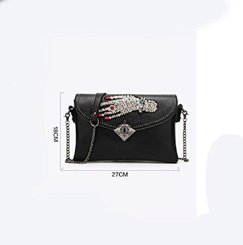 18 abarcan Y Oblicua 5 cm Bolso Mujer Cadena Oblique YT portátil 27 Black qxwR1O