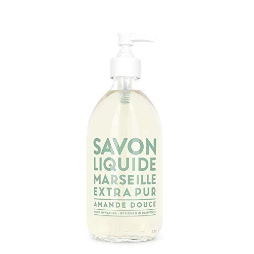Compagnie de Provence Savon de Marseille Extra Pure Liquid Soap - Sweet Almond - 16.9 Fl Oz Glass Pump Bottle ()