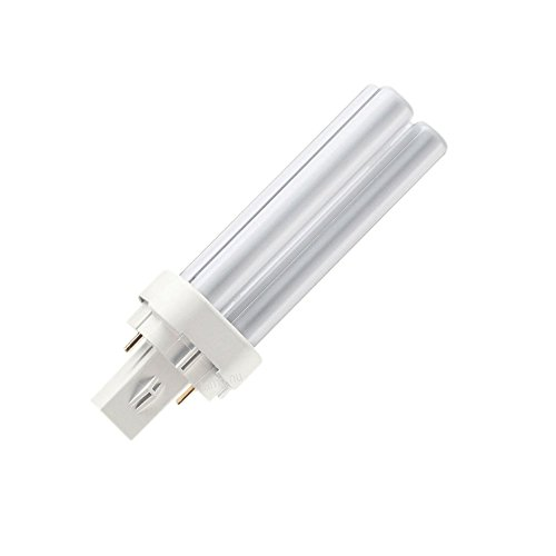Pin Compact Fluorescent Plug In - Philips PL-C 13W/840 Alto Double Tube 2 Pin Base CFL / Compact Fluorescent Light Bulbs - 13 Watt 4K Plug in Lightbbulbs. (Pack of 2)