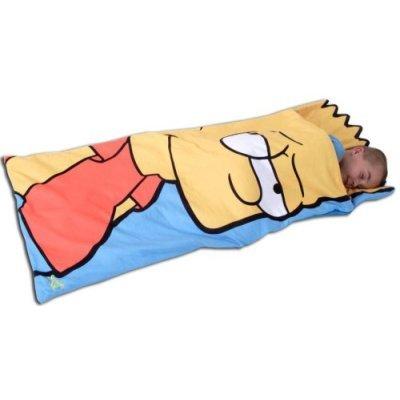 Niños/niños Bart Simpson, The Simpsons Snuggle Sac, interior saco de dormir, poliéster, como en la imagen, 60x150 cms: Amazon.es: Hogar