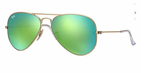 RayBan - RB3025 112/19 Aviator Green Flash - Flash Green Ban Lenses Aviator Ray
