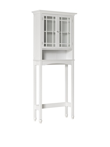 Elegant Home Fashions Neal 68″ 2-Door Space Saver in White