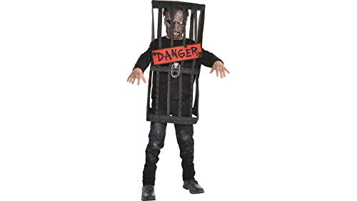 (Caged Zombie Halloween Costume for Boys, Medium, with Included Accessories, by Amscan)