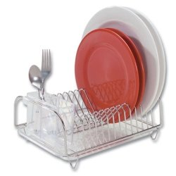 Better Houseware 3423 Compact Dish Drainer Set, Stainless