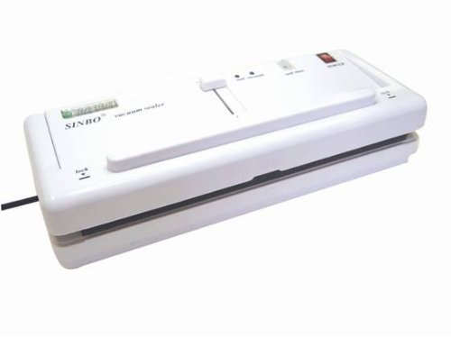 Sinbo DZ-280/2SD 11'' Home Vacuum Sealer w/ 4mm Seal & Retractable Nozzle from ABC Office by Sinbo