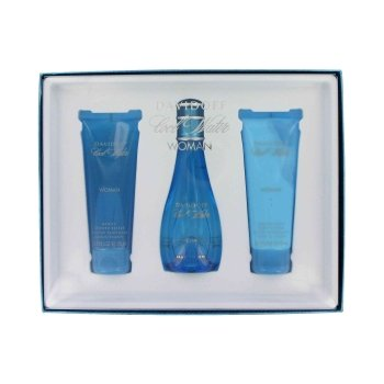 COOL WATER by Davidoff Gift Set -- 3.4 oz Eau De Toilette Spray + 2.5 oz Body Lotion + 2.5 oz Shower Breeze for - Women For Set Cool Water Perfumes