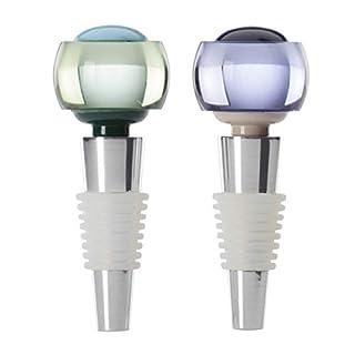 KATE SPADE Nolita 2-piece Bottle Stopper Set, 0.50 LB, Metallic