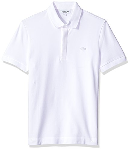 Lacoste Men's Short Sleeve Paris Piqué Polo, White, Large