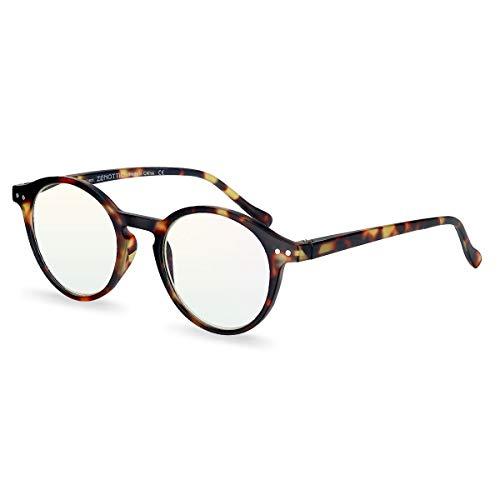 ZENOTTIC Blue Light Blocking Reading Glasses Classic Round Lightweight Frame Eyeglasses for Men and Women,for Computer Reading/Gaming/TV/Phones (Tortoise, 3.00) from ZENOTTIC