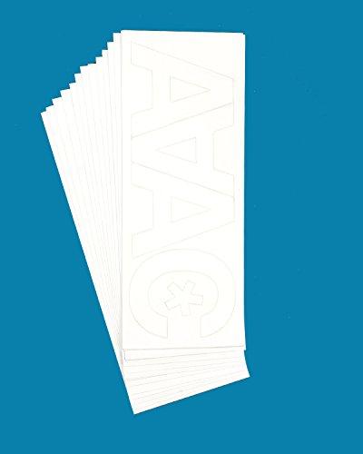 Lettering White (Westcott LetterCraft Vinyl Letters, White, Helvetica Font, 3-Inch Characters (PH3-CN W/15863))