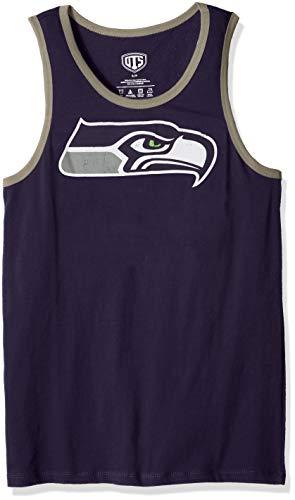 NFL Seattle Seahawks Men's OTS Cotton Tank, Distressed Logo, Small