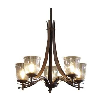 Allen roth harpwell 7 light oil rubbed bronze standard chandelier candle rustic country for Allen roth bathroom light fixtures bronze