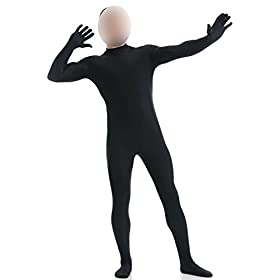- 31dD72 0HqL - Ensnovo Mens Mock Neck Full Body Unitard Spandex Zentai Suits Costumes