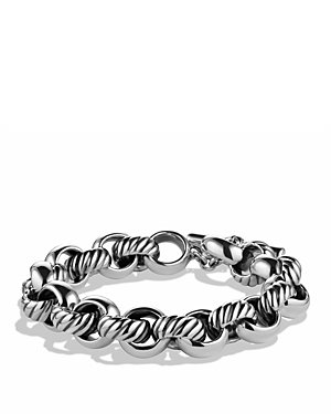 brand-new-david-yurman-cable-classics-large-round-link-chain-bracelet-in-sterling-silver