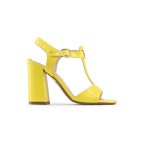 Made In Italia Womens/Ladies Arianna High Heel Sandals With Adjustable Ankle Strap Yellow GWGfzXNM9F